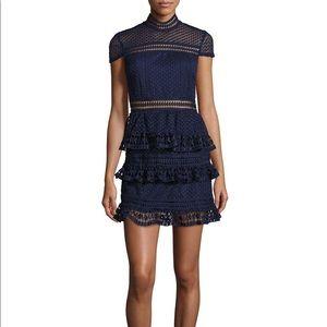 Romeo + Juliet Couture Ruffled Lace Dress